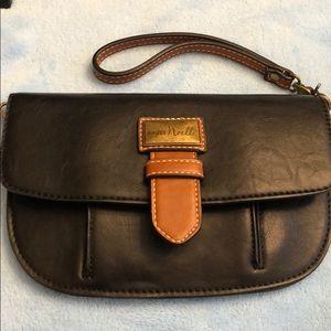 Simply noelle black wristlet wallet clutch